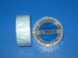 "WALKER 1""X 3 YDS  LACE FRONT SUPPORT TAPE ROLL ( BLUE LINER ) ~Lace Wigs Toupee"