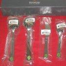 WATERFORD* 18/10 STAINLESS FLATWARE CARLETON 4PC HOSTESS SET NEW IN BOX.