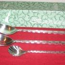 Pfaltzgraff 18/10 Stainless 3Pc Satin Chopstick NIB