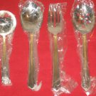 MIKASA PINNACLE GOLD 18/8 STAINLESS STEEL 4PC HOSTESS SET NEW IN BOX.