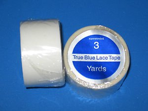"""SUPERTAPE TRUE BLUE LACE TAPE 1""""X 3 YD ROLL~WEFT HAIR EXTENSIONS."""
