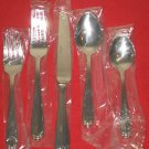 "Wallace Silversmiths 18/8 Stainless Steel ""Biltmore""5Pc Place Set New in Box."