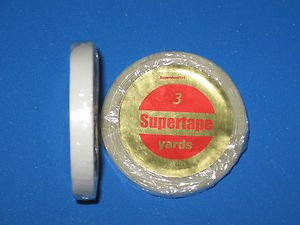 """SuperTape 1/4"""" x 3 Yard Roll Tape Adhesive on white lined core ~ Hair Extensions"""