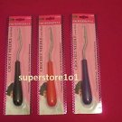 "CROCHET NEEDLE Latch Hook""PROFESSIONAL""RED, PURPLE ,BLACK~Weave Hair Extension."