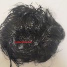 Hair Scrunchie  Ponytail Holder Mousse (Black or Brown) Hair-Synthetic.