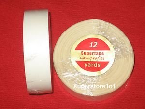 """SuperTape Low Profile 3/4""""x 12YDS Roll Tape Non Glare~Lace Wigs Hair Extensions."""