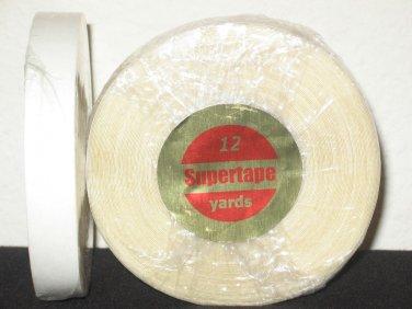"""SuperTape 1/2"""" x 12 Yard Roll Tape Non Glare ~ Lace Wigs"""