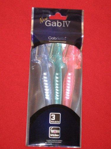 3pcs Set New Gab IVGabriella Eyebrow facial Razors/Safety Cover Stainless Blade