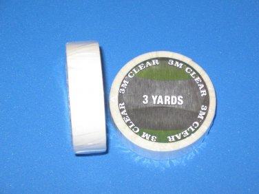 """WALKER 3M CLEAR 1/2"""" X 3YD ( 108"""" ) DAILY WEAR 1522 ROLL ~ WIGS,HAIR PIECE."""