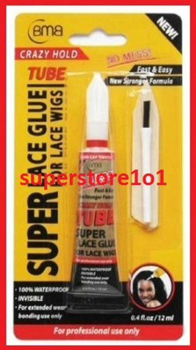 BMB SUPER LACE GLUE FOR PROFESSIONAL USE 0.4FL.OZ(CRAZY HOLD)FAST&EASY~LACE WIGS