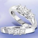 14k White Gold 1/2ct. Princess Cut Diamond Trellis Ring