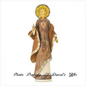 Golden Jesus Figurine