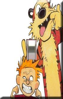 Calvin & Hobbs Single Switchplate Cover