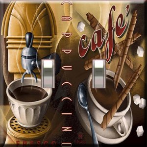 Cappucino Cafe Double Switchplate Cover