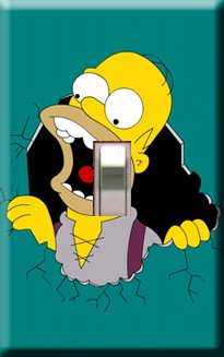 Homer Simpson Single Switchplate Cover