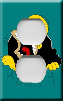 Homer Simpson Outlet Cover