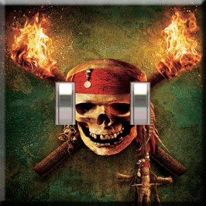 Pirates of the Carribean Double Switchplate Cover