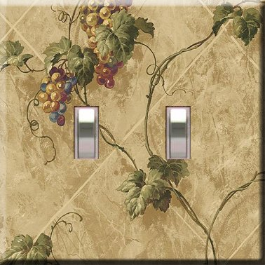 Grapevines on the Wall Double Switchplate Cover