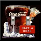 Drink Coca Cola Retro Double Switchplate Cover