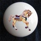 Carousel Horse Ceramic Dresser/Cabinet Knob