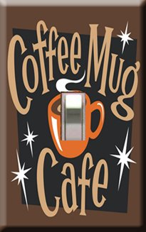 Coffee Mug Cafe Decorative Single Switchplate Cover