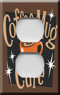 Coffee Mug Cafe Decorative Outlet Cover