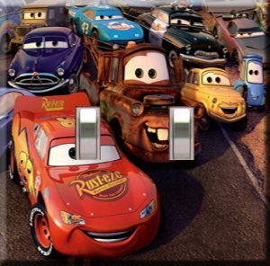 Lightning McQueen Decorative Double Switchplate Cover