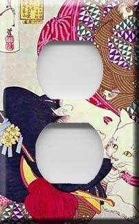 Geisha Girl Decorative Outlet Cover