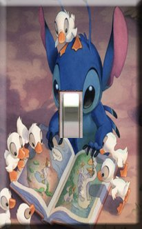 Lilo & Stitch Handcrafted Single Swithplate Cover