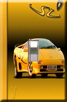 Lamborghini Handcrafted Single Switchplate Cover