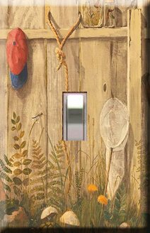 Little Boy's Fence Handcrafted Single Switchplate Cover