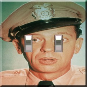 Barney Fife Handcrafted Double Switchplate Cover