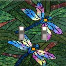 Dragonflies Handcrafted Double Switchplate Cover