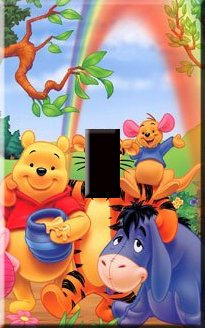 Winnie the Pooh & Friends Handcrafted Single Switchplate Cover