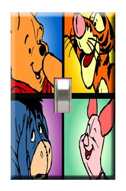 Winnie the Pooh #1 Handcrafted Single Switchplate Cover