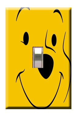 Winnie the Pooh #2 Handcrafted Single Switchplate Cover