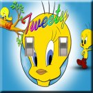 Tweety Bird Handcrafted Double Switchplate Cover