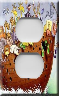 Noah's Ark Handcrafted Outlet Cover