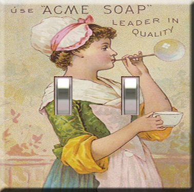 Acme Soap Handcrafted Double Switchplate Cover