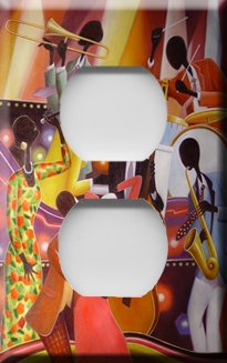 African American Jazz Art Handcrafted Outlet Cover