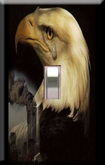 Remember 911 Handcrafted Single Switchplate Cover