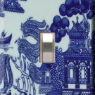 Blue Willow Pattern Handcrafted Single Switchplate Cover