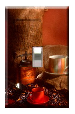 Coffee Handcrafted Single Switchplate Cover