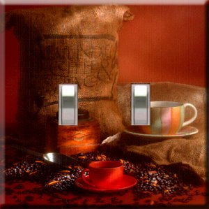 Coffee Handcrafted Double Switchplate Cover