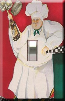 Kitchen Chef at Bar Handcrafted Single Switchplate Cover