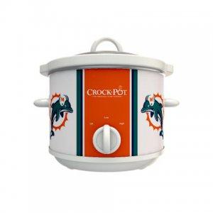 Official NFL Crock-Pot Cook & Carry 2.5 Quart Slow Cooker - Miami Dolphins