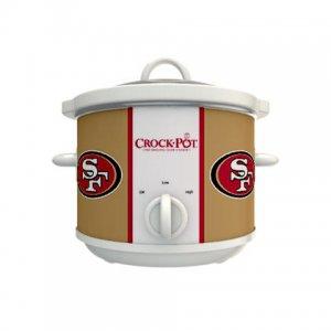 Official NFL Crock-Pot Cook & Carry 2.5 Quart Slow Cooker - San Francisco 49ers