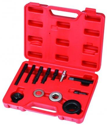 12pc Power Steering Alternator AC Pulley Puller Installer Extractor Tool Kit Set V-VT01041