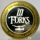 Three Forks $50 Token Silver Free Shipping A26