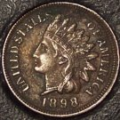 1898 Indian Head Cent XF FULL LIBERTY NICE FREE S&H #123